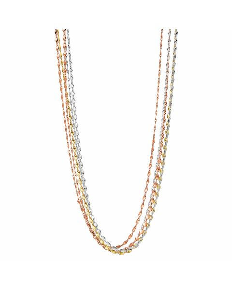 Collier Silber 925 tricolor